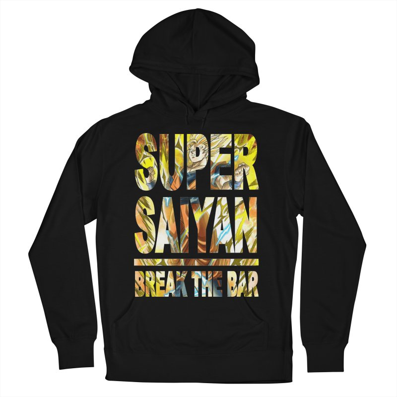 Super Saiyan Men's French Terry Pullover Hoody by Break The Bar