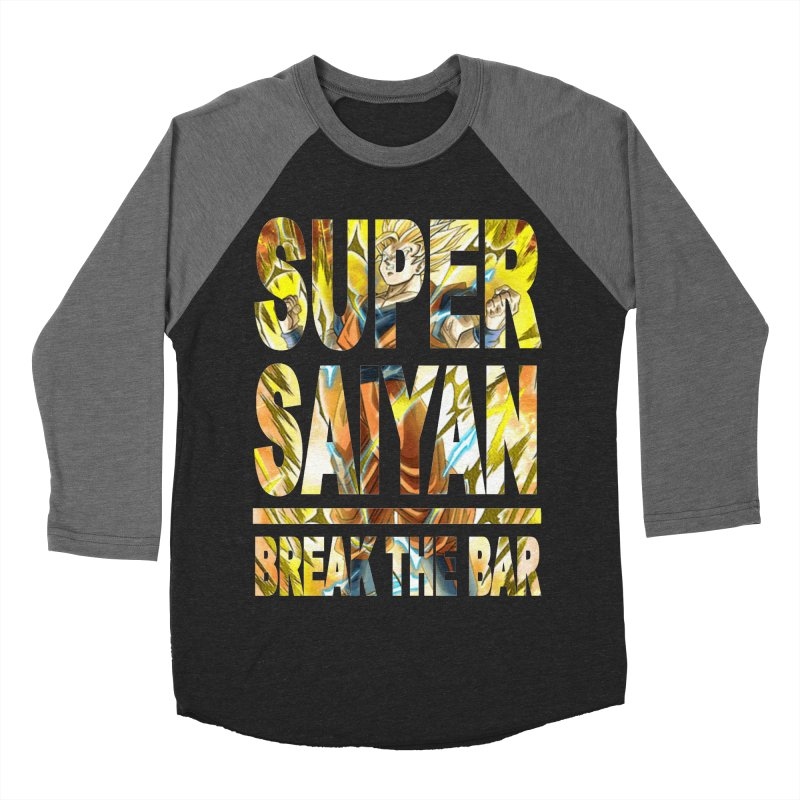 Super Saiyan Men's Baseball Triblend Longsleeve T-Shirt by Break The Bar