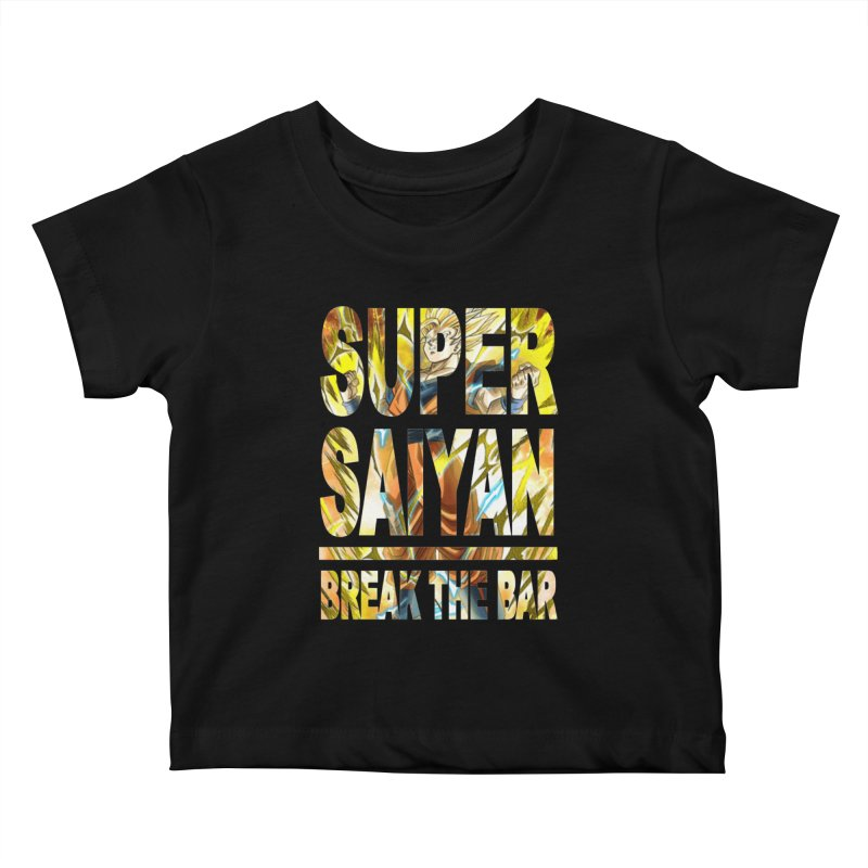 Super Saiyan Kids Baby T-Shirt by Break The Bar