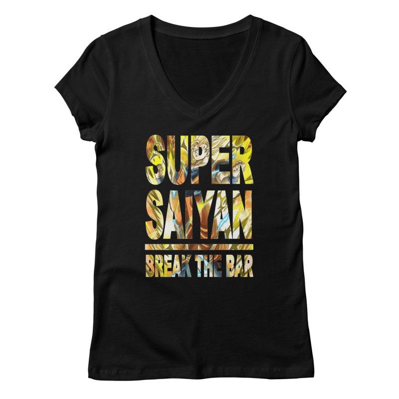 Super Saiyan Women's V-Neck by Break The Bar