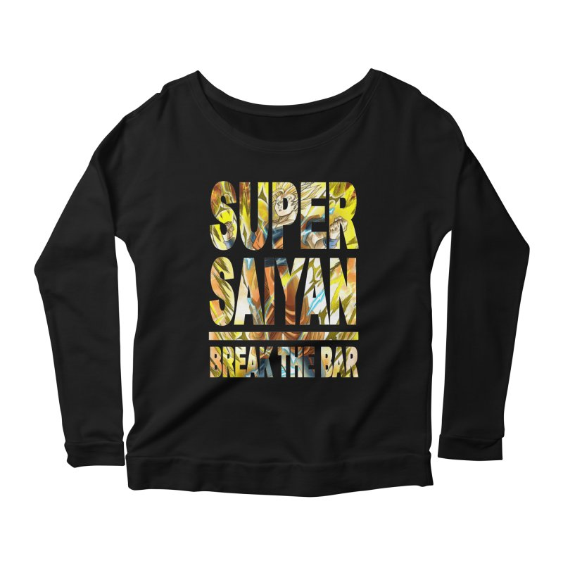 Super Saiyan Women's Scoop Neck Longsleeve T-Shirt by Break The Bar