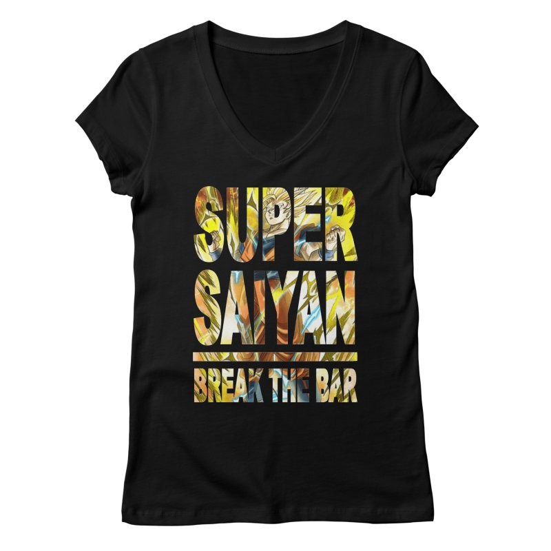 Super Saiyan Women's Regular V-Neck by Break The Bar