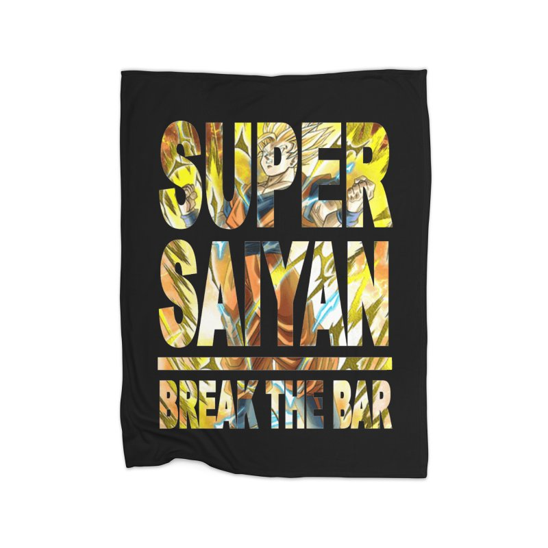 Super Saiyan Home Fleece Blanket Blanket by Break The Bar