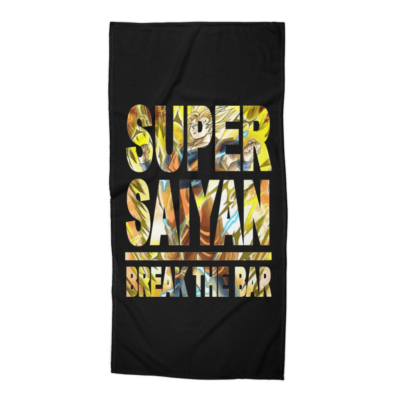 Super Saiyan Accessories Beach Towel by Break The Bar