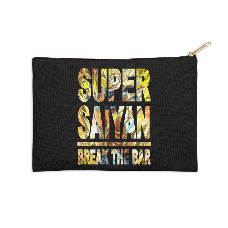 Super Saiyan Accessories Zip Pouch by Break The Bar