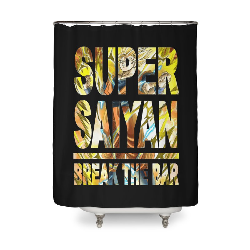 Super Saiyan Home Shower Curtain by Break The Bar
