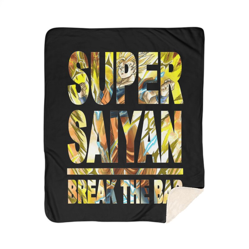 Super Saiyan Home Sherpa Blanket Blanket by Break The Bar