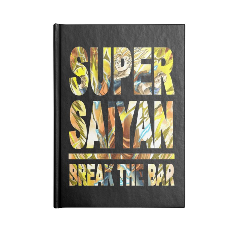 Super Saiyan Accessories Lined Journal Notebook by Break The Bar