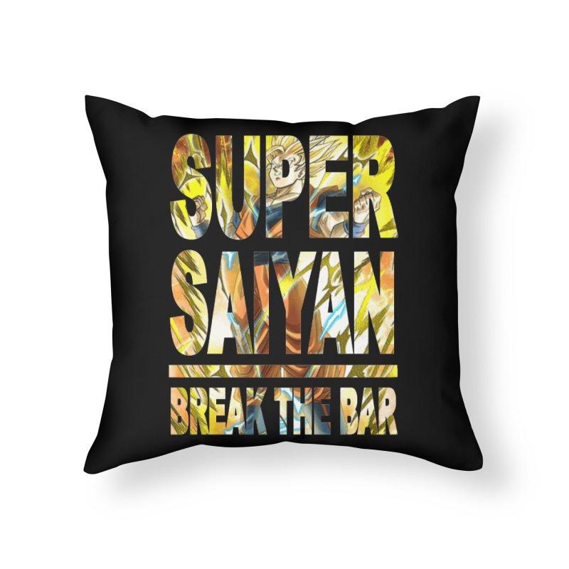 Super Saiyan Home Throw Pillow by Break The Bar
