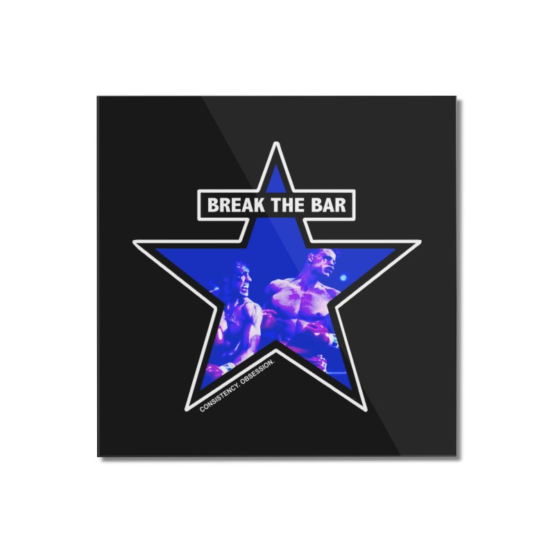 Knockout Home Mounted Acrylic Print by Break The Bar