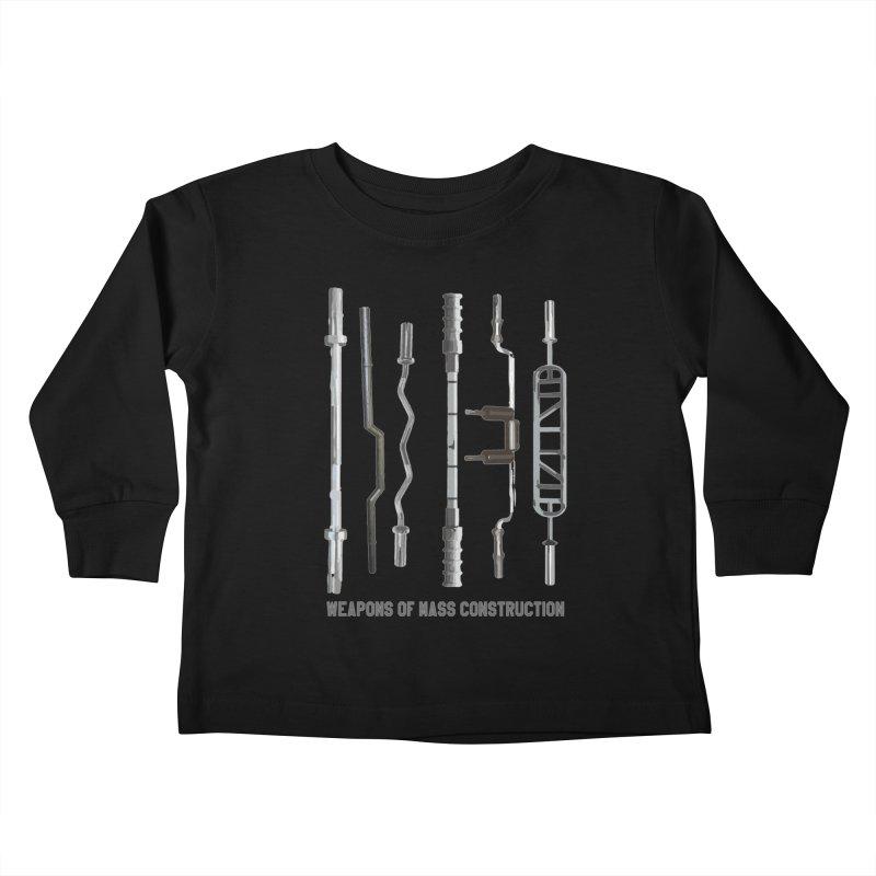 Weapons of Mass Construction Kids Toddler Longsleeve T-Shirt by Break The Bar