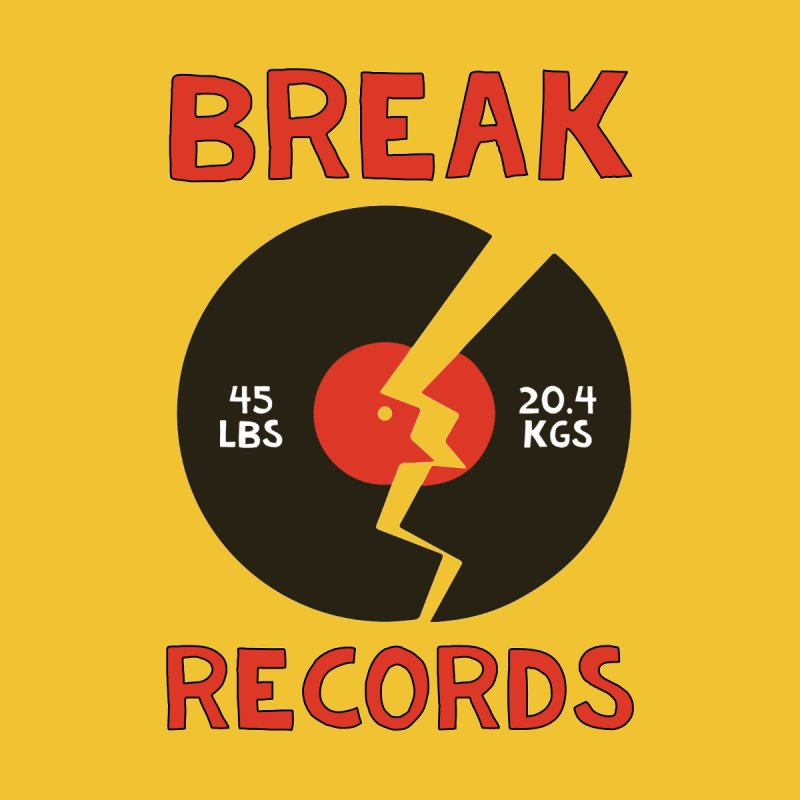 Break Records Men's T-Shirt by Break The Bar