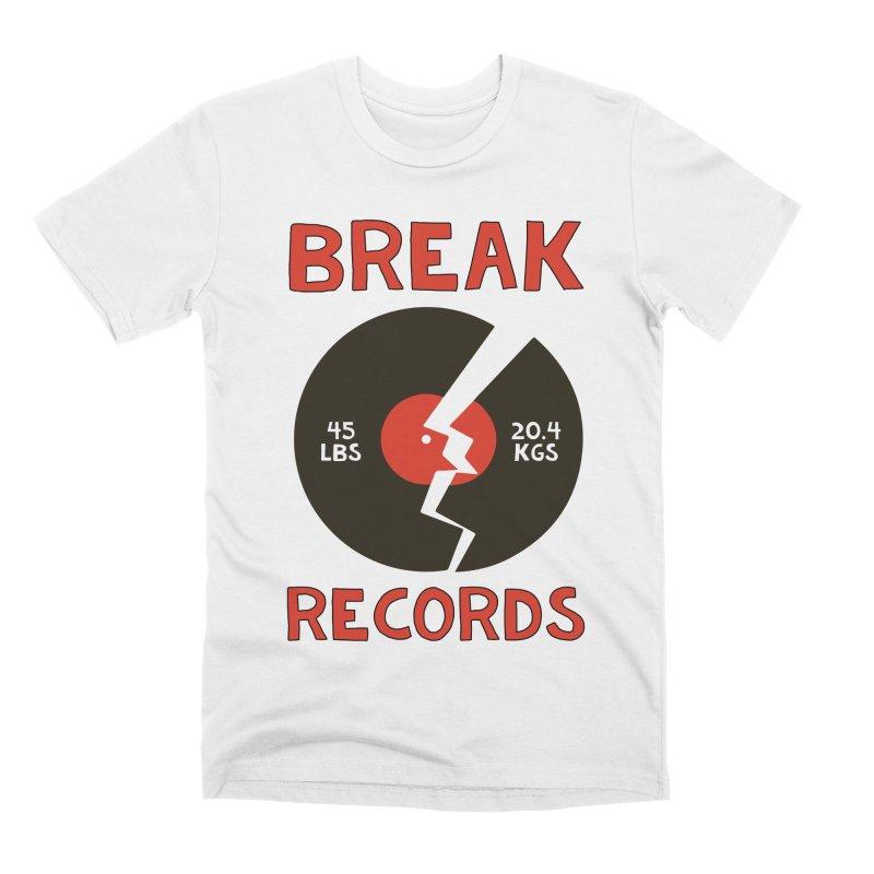Break Records Men's Premium T-Shirt by Break The Bar