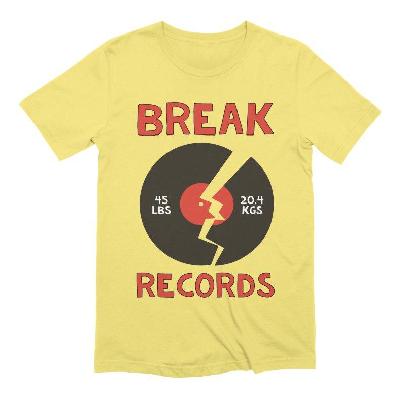 Break Records Men's T-Shirt by Break The Bar