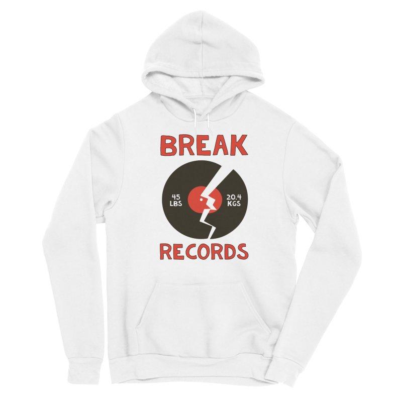 Break Records Men's Pullover Hoody by Break The Bar