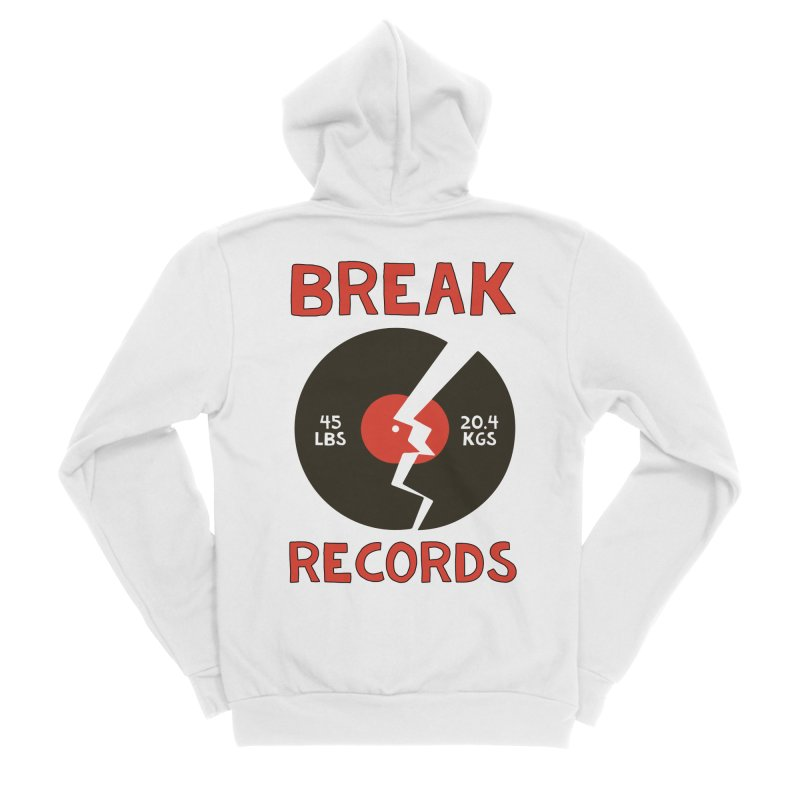 Break Records Women's Sponge Fleece Zip-Up Hoody by Break The Bar