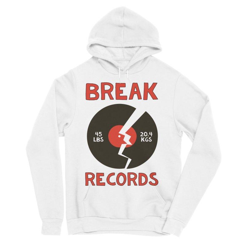 Break Records Men's Sponge Fleece Pullover Hoody by Break The Bar