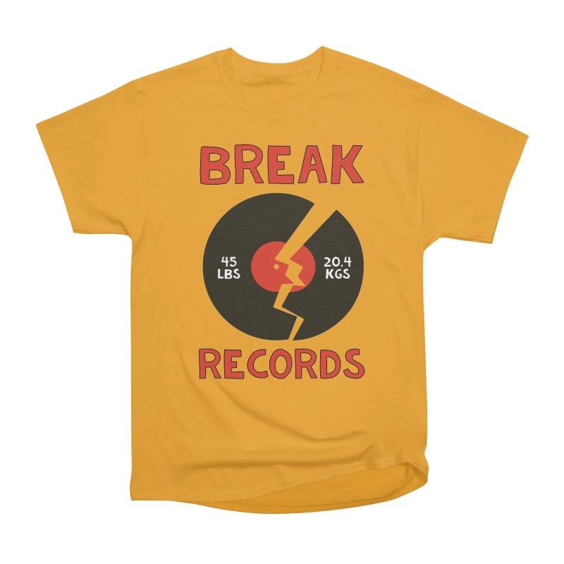 Break Records Men's Heavyweight T-Shirt by Break The Bar