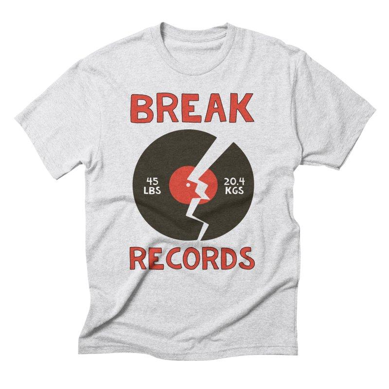 Break Records Men's Triblend T-Shirt by Break The Bar