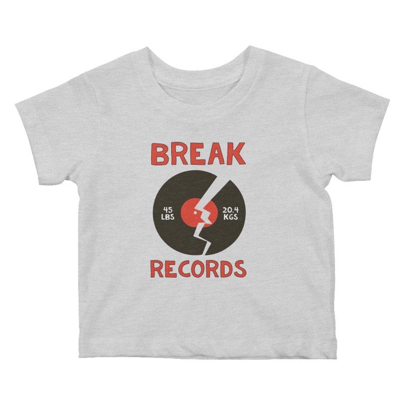 Break Records Kids Baby T-Shirt by Break The Bar