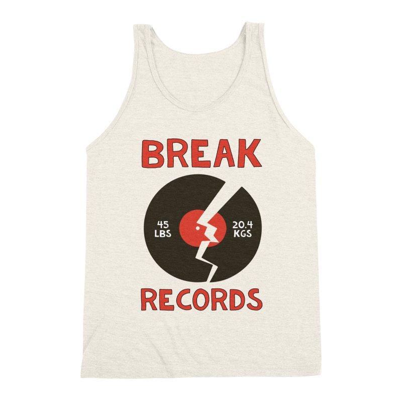 Break Records Men's Triblend Tank by Break The Bar