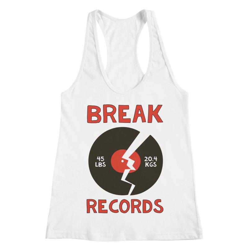 Break Records Women's Racerback Tank by Break The Bar