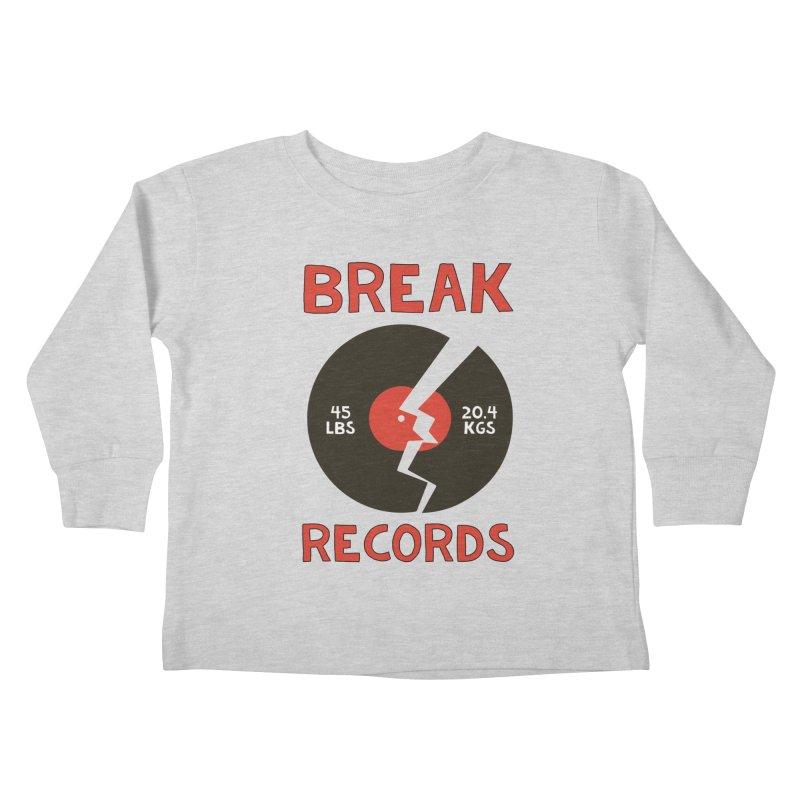 Break Records Kids Toddler Longsleeve T-Shirt by Break The Bar