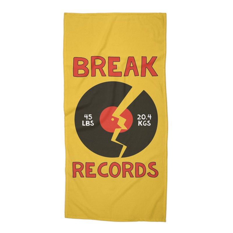 Break Records Accessories Beach Towel by Break The Bar