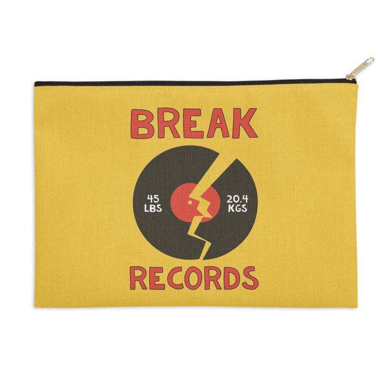 Break Records Accessories Zip Pouch by Break The Bar