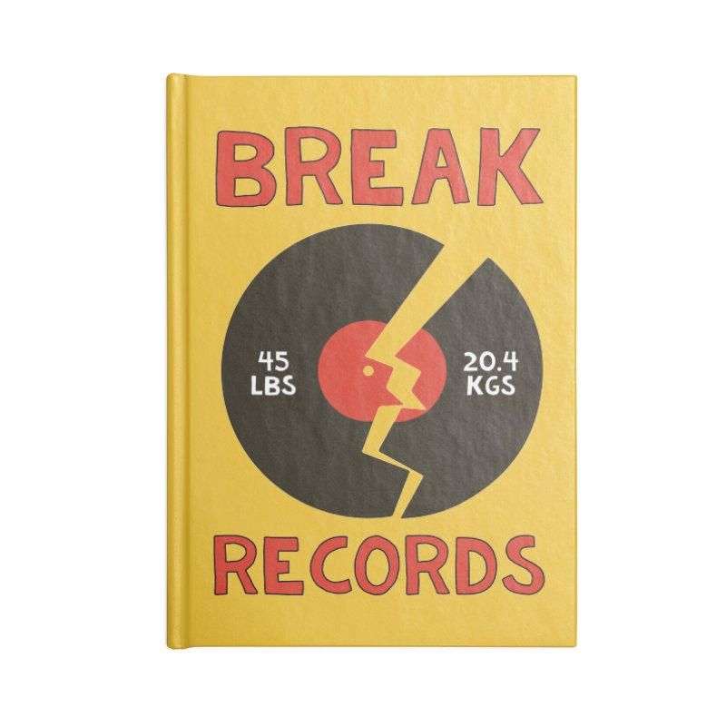 Break Records Accessories Lined Journal Notebook by Break The Bar