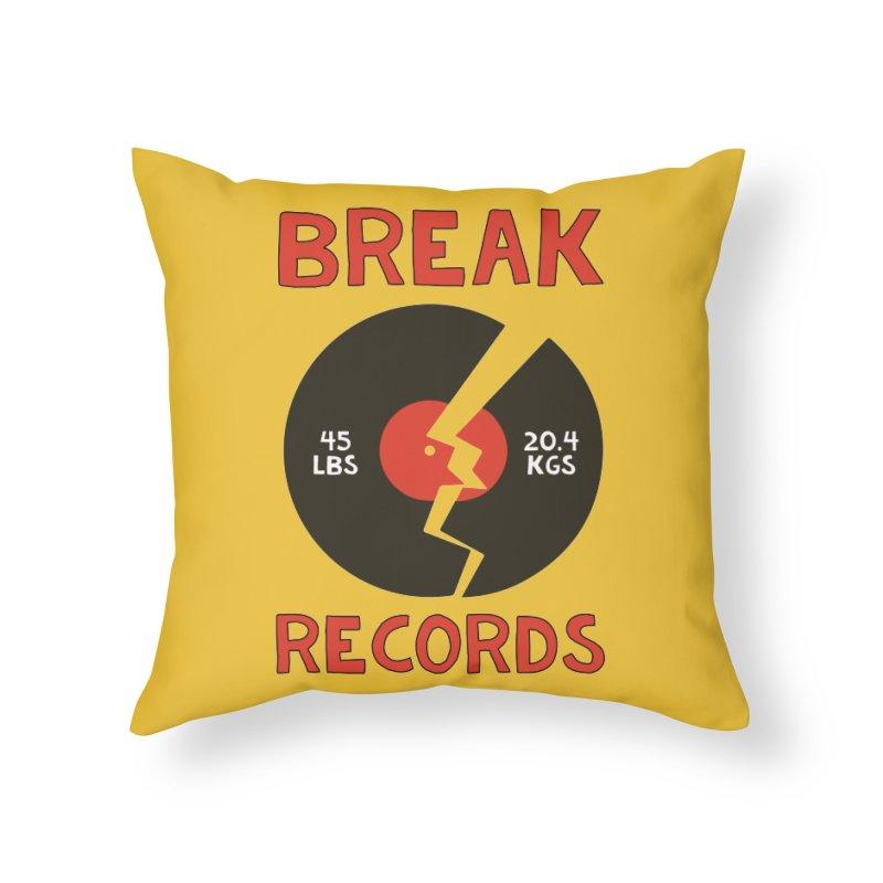 Break Records Home Throw Pillow by Break The Bar