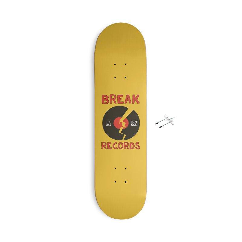 Break Records Accessories Skateboard by Break The Bar