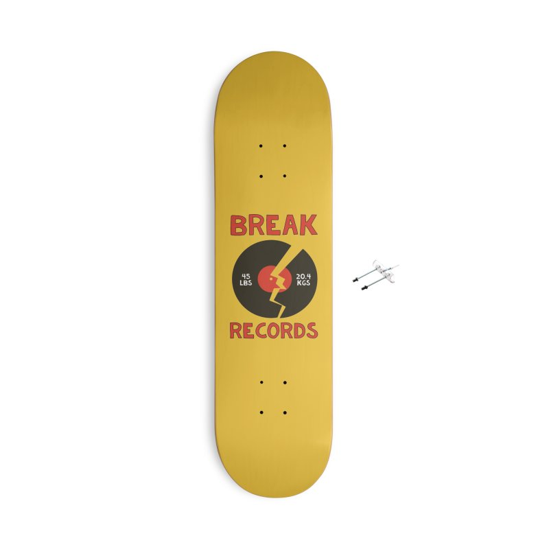 Break Records Accessories With Hanging Hardware Skateboard by Break The Bar