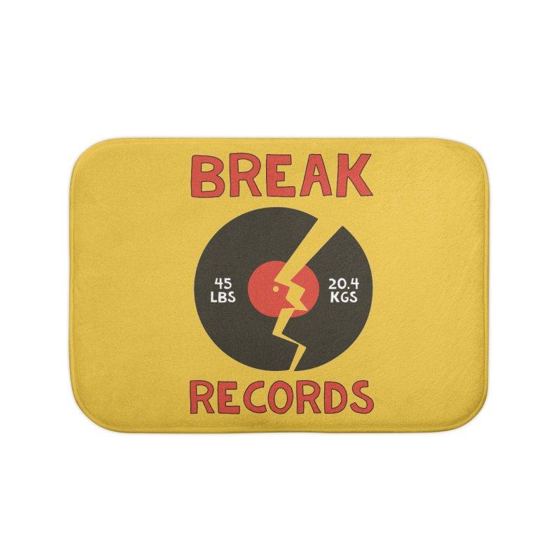 Break Records Home Bath Mat by Break The Bar