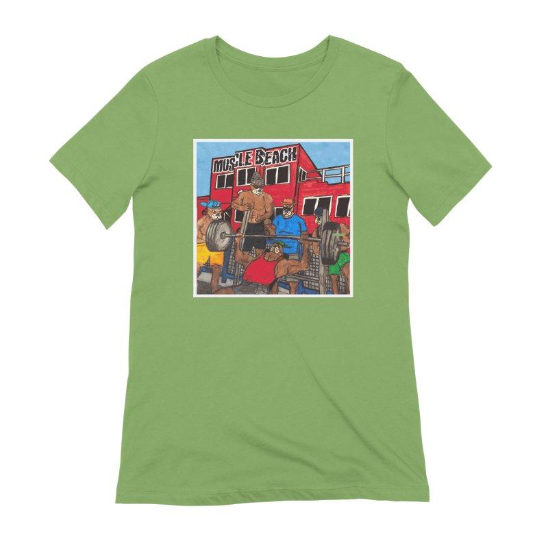 Muscle Beach Women's Extra Soft T-Shirt by Break The Bar
