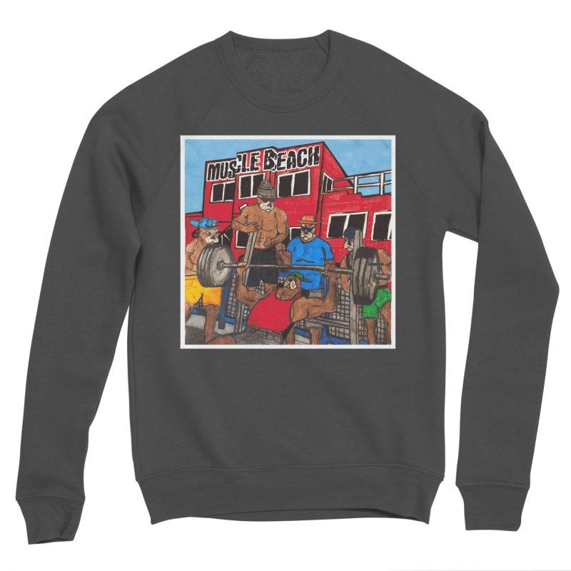 Muscle Beach Men's Sponge Fleece Sweatshirt by Break The Bar