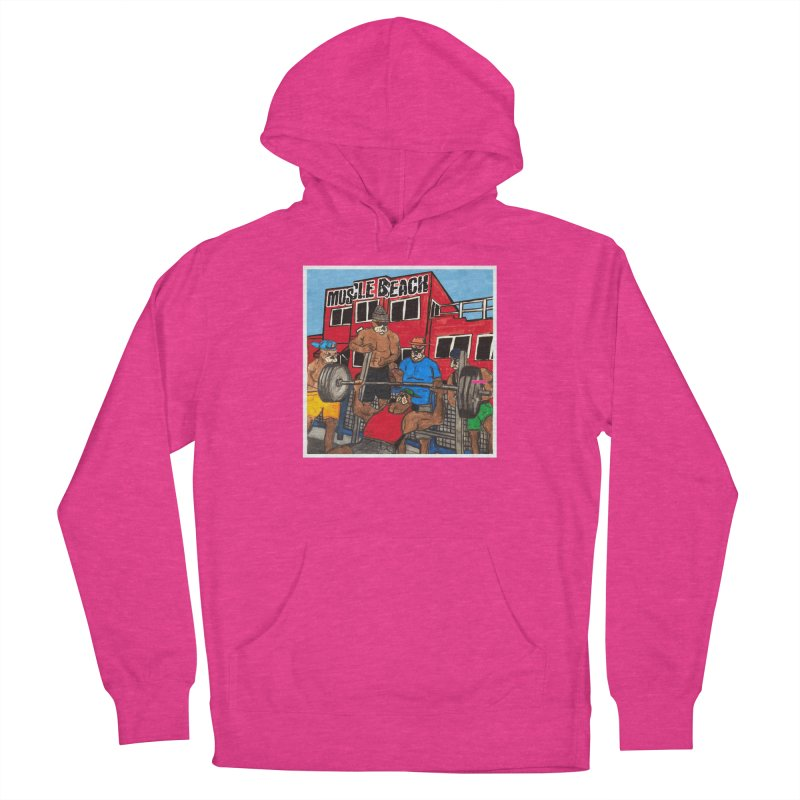 Muscle Beach Men's French Terry Pullover Hoody by Break The Bar