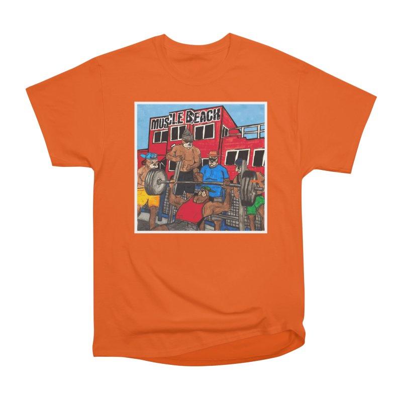 Muscle Beach Men's Heavyweight T-Shirt by Break The Bar