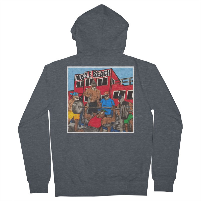 Muscle Beach Men's French Terry Zip-Up Hoody by Break The Bar