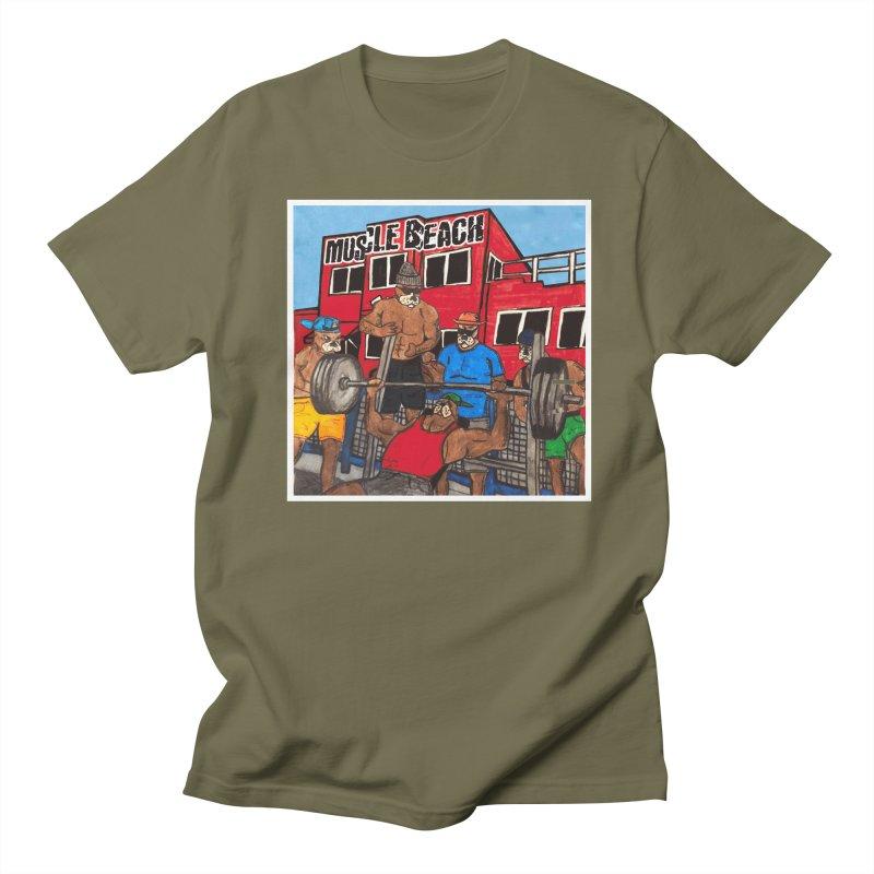 Muscle Beach Men's Regular T-Shirt by Break The Bar
