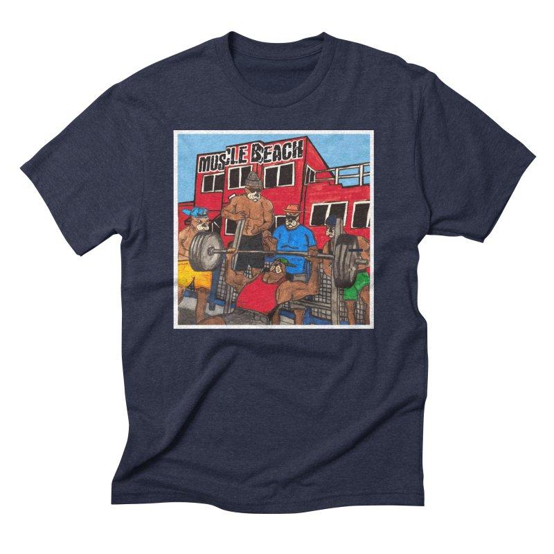 Muscle Beach Men's Triblend T-Shirt by Break The Bar
