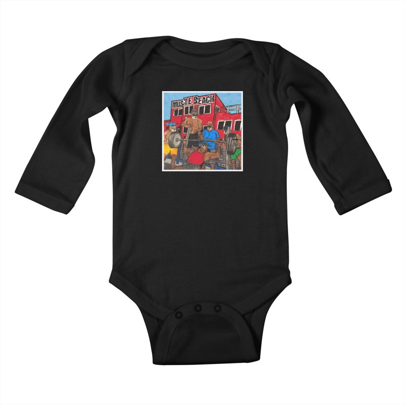 Muscle Beach Kids Baby Longsleeve Bodysuit by Break The Bar