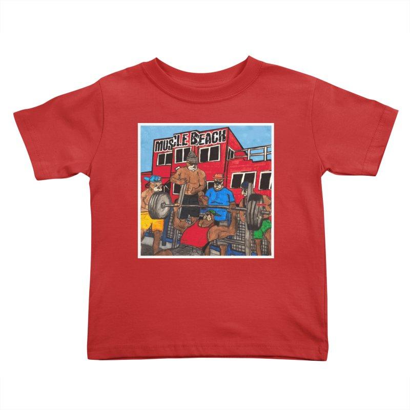 Muscle Beach Kids Toddler T-Shirt by Break The Bar