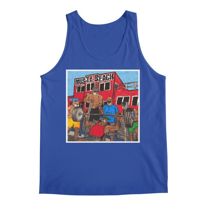 Muscle Beach Men's Regular Tank by Break The Bar