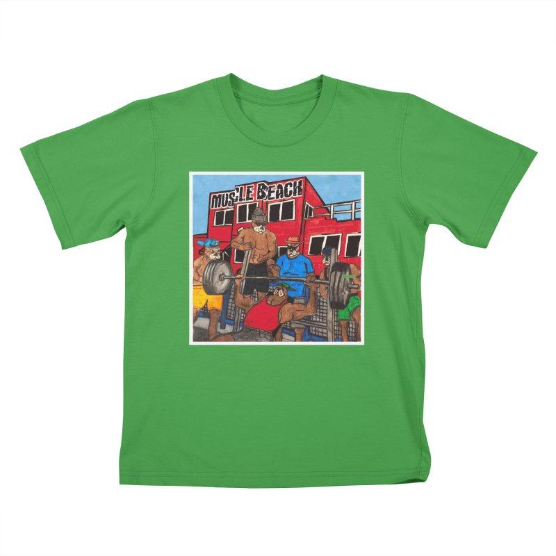 Muscle Beach Kids T-Shirt by Break The Bar