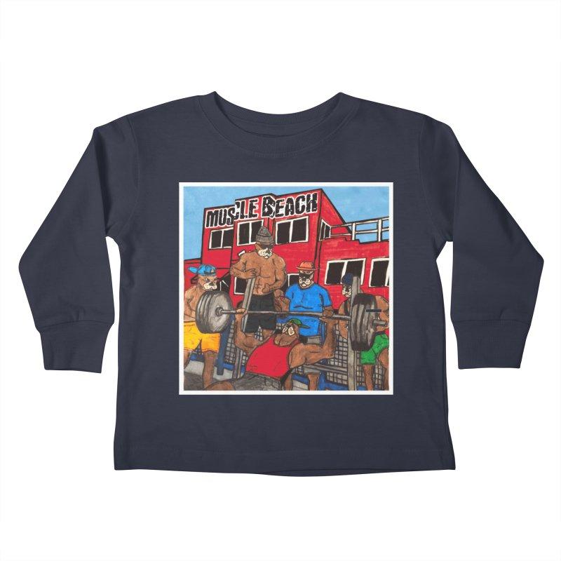 Muscle Beach Kids Toddler Longsleeve T-Shirt by Break The Bar