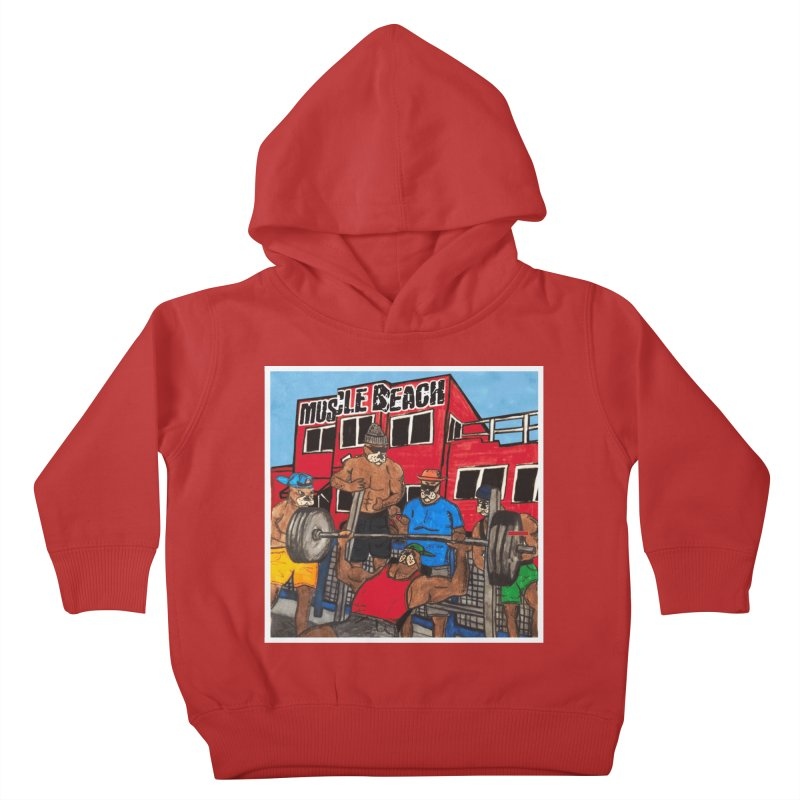 Muscle Beach Kids Toddler Pullover Hoody by Break The Bar