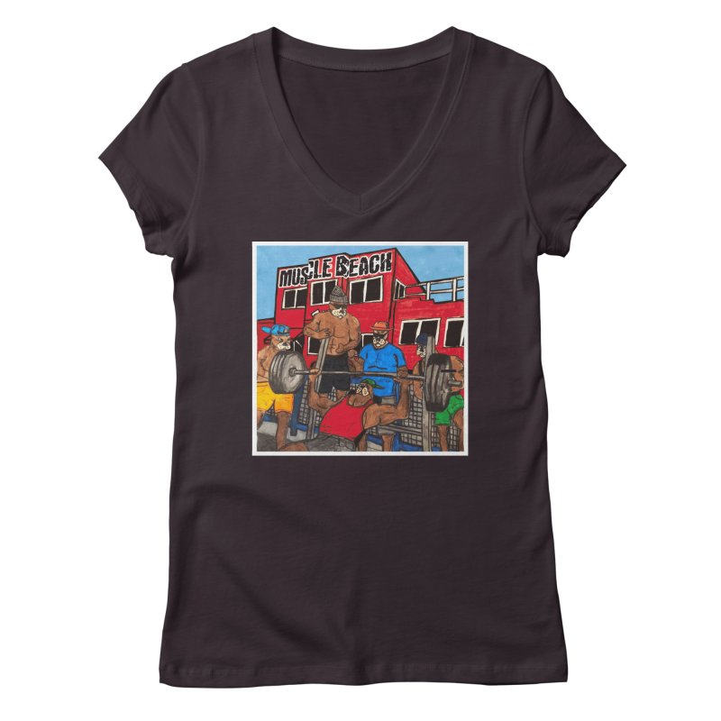 Muscle Beach Women's Regular V-Neck by Break The Bar