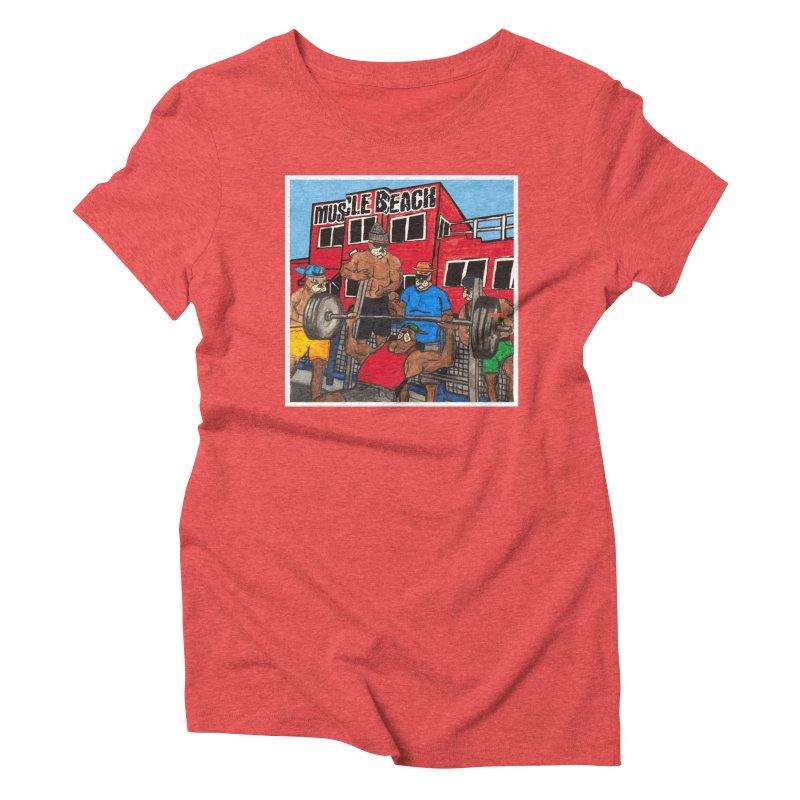 Muscle Beach Women's Triblend T-Shirt by Break The Bar
