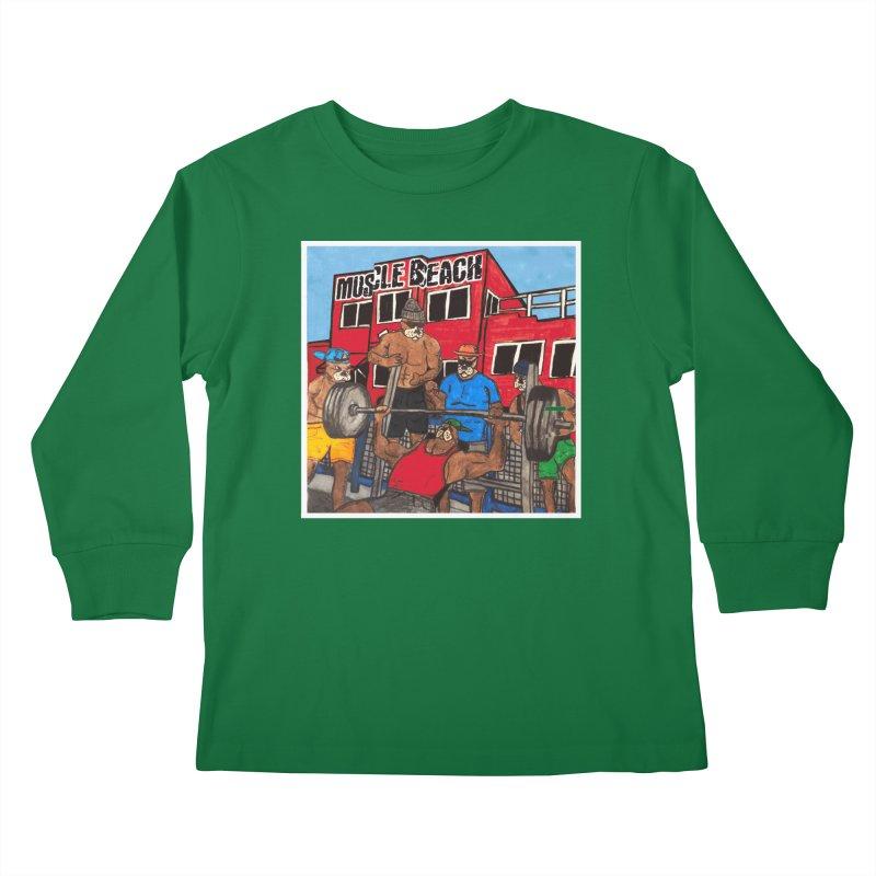 Muscle Beach Kids Longsleeve T-Shirt by Break The Bar